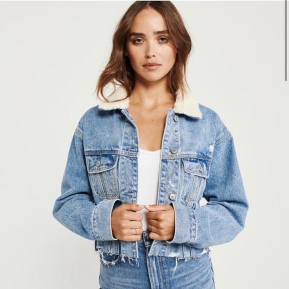 Abercrombie jean jacket size xs